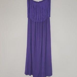 Beautiful purple fringe dress